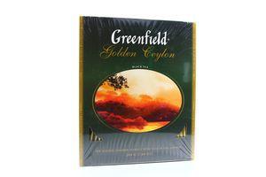 Чай черный Golden Ceylon Greenfield к/у 100х2г