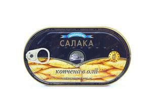 Салака Аквамарин копчена в олії 190г х48