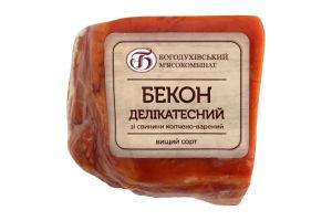 Бекон Делікатесний з свинини в/к в/г ваговий Богодухівський МК
