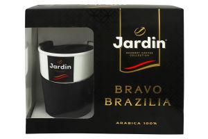 Набір Кава натуральна смажена мелена 250г+термочашка 400мл Bravo Brazilia Jardin 1шт
