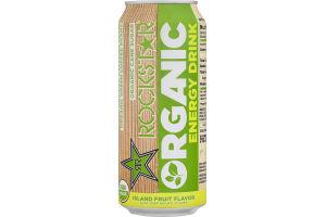 Rockstar Organic Energy Drink Island Fruit Flavor