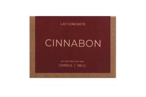 Свічка бетон з ароматом Cinnabon Lay Concrete 1шт