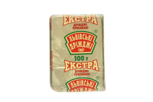 Дрожжи хлебопекарные прессованные Экстра Львівські дріжджі м/у 100г
