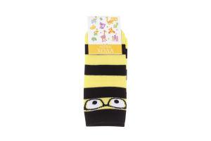 Носки детские Легка хода №9212 14-16 черный-желтый