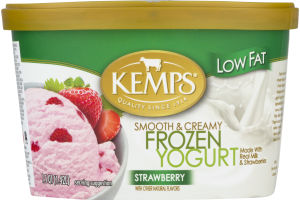 Kemps Low Fat Smooth & Creamy Frozen Yogurt Strawberry