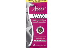 Nair Hair Remover Wax Ready-Strips For Legs & Body - 40 CT