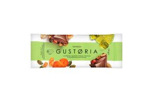 Шоколад молочный с морковью, семенами тыквы, арахисом и желейными кусочками Gustoria Світоч м/у 100г