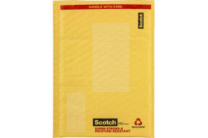 Scotch Plastic Bubble Mailer 6 X 9.25-Inch