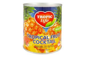 Коктейль Tropic Life Фруктовий у сиропі 850мл х24