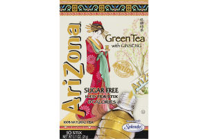 AriZona Iced Tea Stix Sugar Free Green Tea with Ginseng - 10 CT
