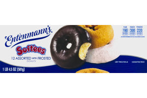 Entenmann's Soft'ees Donuts Assorted with Frosted - 12 CT