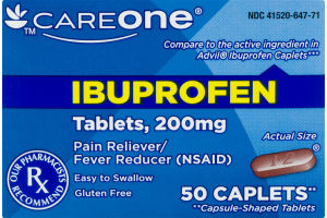CareOne Ibuprofen Pain Reliever/Fever Reducer - 50 CT