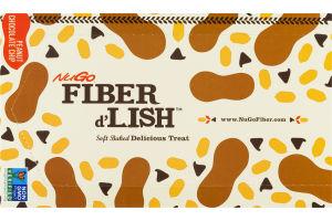 NuGo Fiber d'Lish Soft Baked Delicious Treat Peanut Chocolate Chip Bars - 16 CT