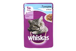 Корм для взрослых котов с тунцом в желе Whiskas д/п 100г