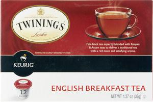 Twinings of London Keurig K-Cups English Breakfast Tea - 12 CT