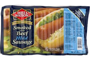 Dietz & Watson Smoked Beef Mild Sausage