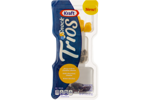 Kraft Snack Trios/Sharp Yellow Cheddar Cheese, Dark Chocolate Chunks, Dried Cherries