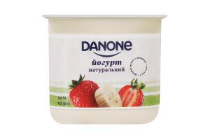 Йогурт 2% натуральний Полуниця-банан Danone ст 135г