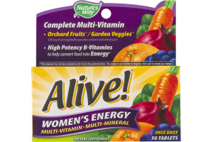 Nature's Way Alive! Women's Energy Multi-Vitamin Tablets - 50 CT