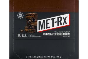 MET-Rx Protein Plus Chocolate Fudge Deluxe Protein Bar - 9 CT