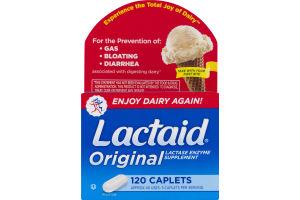 Lactaid Original Lactase Enzyme Supplement Caplets - 120 CT