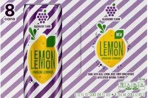 Lemon Lemon Sparkling Lemonade Blackberry Flavor - 8 CT