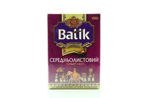 Чай черный среднелистовой Batik к/у 100г