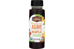 Madhava Organic Agave Maple Low-Glycemic Sweetener