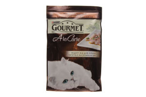 Корм для котів Gourmet А Ля Карт з лососем 85г