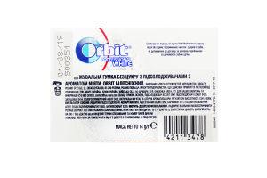 Резинка жевательная без сахара с ароматом мяты White Professional Orbit к/у 14г