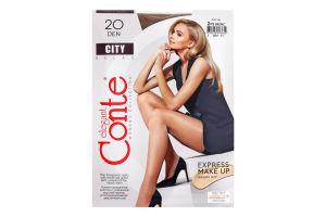 Колготки жіночі Conte City №8С-39СПС 20den 2-S bronz