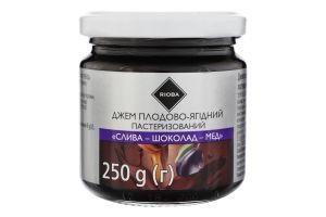 Джем плодово-ягодный Слива-шоколад-мед Rioba с/б 250г