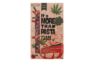 Макаронные изделия без глютена с экстрактом каннабиса, спирулиной, шпинатом, тыквой и куркумой, TM Healthy Generation, 240 г