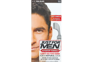 Just For Men Autostop® Formula Easy Comb-In Haircolor A-55 Real Black