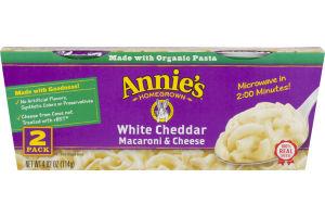 Annie's Homegrown Macaroni & Cheese Cups White Cheddar - 2 PK
