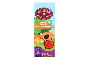 Сок мультифруктовый для детей от 8мес Ложка в ладошке т/п 200мл