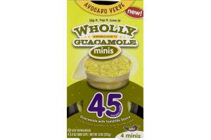 Wholly Guacamole Minis Avocado Verde - 4 CT