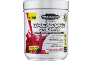 MuscleTech Creacore Creatine Super Concentrated Formula Fruit Punch Fusion Dietary Supplement