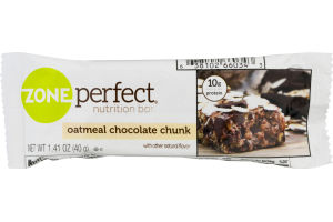 Zone Perfect Nutrition Bar Oatmeal Chocolate Chunk