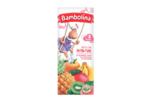 Сік Bambolina Мультифруктовий 8міс+ 0,2л х27