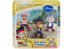 Fisher-Price Disney Poseable Figures Jake, Izzy & Cubby