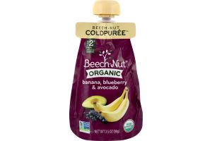 Beech-Nut Organic Stage 2 Banana, Blueberry & Avocado