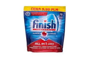 Засіб для миття посуду в посудомийних машинах FINISH TABS ALL IN 1 13 шт