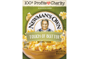 Newman's Own Microwave Popcorn Light Butter - 3 CT