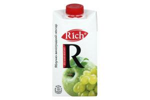 Нектар освітлений яблучно-виноградний Rich т/п 0.5л