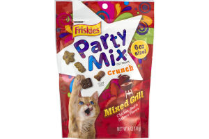 Purina Friskies Party Mix Cat Treats Mixed Grill Chicken, Beef & Salmon Flavors