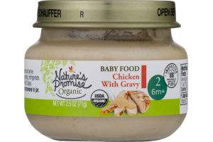 Nature's Promise Organic Baby Food Chicken with Gravy 6m+