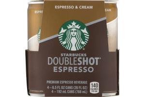 Starbucks Doubleshot Espresso & Cream - 4 PK