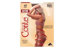 Колготы женские Conte Active 40den 4-L natural