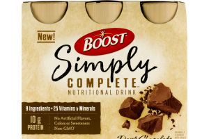 Boost Simply Complete Nutritional Drink Dark Chocolate - 6 CT